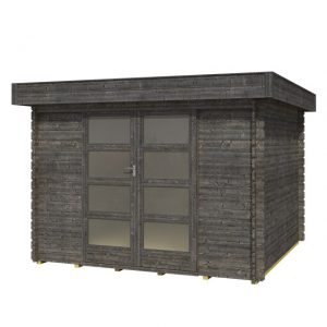 OLP Outdoor Life Products Tuinhuis Olga 300 Extra Antraciet gedompeld