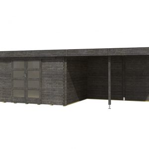 OLP Outdoor Life Products Tuinhuis Xavier 300 Extra Antraciet gedompeld