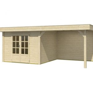 OLP Outdoor Life Products Tuinhuis met Overkapping Outdoor Living 6030/20 Extra