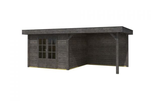 OLP Outdoor Life Products Tuinhuis met Overkapping Outdoor Living 6030/20 Extra Gedompeld