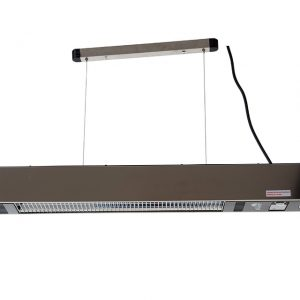 Outtrade Hanging 1500 W Ellips Carbon Fibre Heater with Lights Stainless Steel