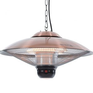 Outtrade Saucer 2100 Copper Hanging Heater Remote Halogen