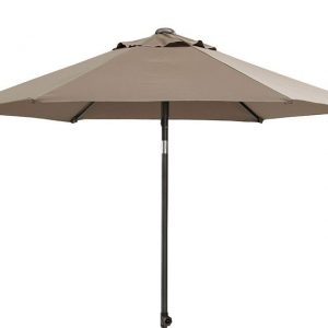 Parasol 300 cm Push Up Taupe 4 Seasons Outdoor