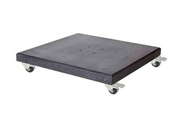Parasolvoet Modena met Zwenkwielen 90 kilo Graniet Platinum