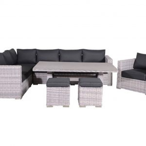 Tennessee lounge dining set links 6-delig - grijs