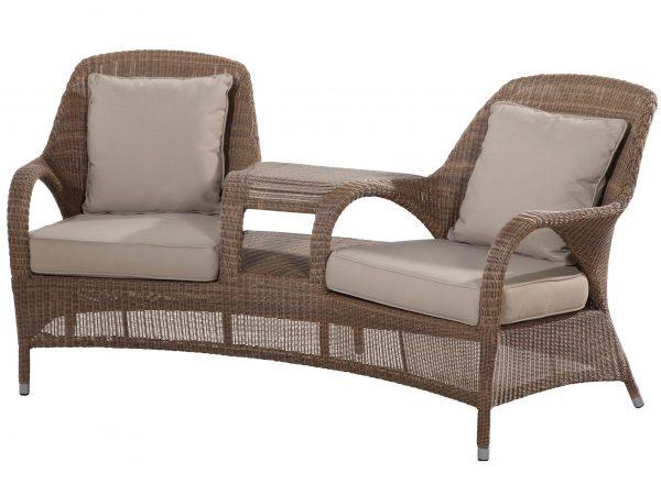 Sussex lounge tuinbank love seat bruin