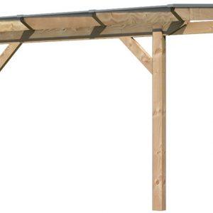 Terrasoverkapping Karibu Premium 1A - Ronde Schoren - 310 x 250 cm