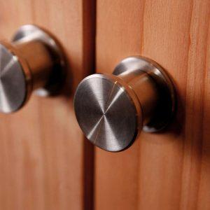 Trendhout RVS deurknop