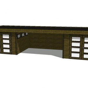 Tuinhuis/Blokhut Fonteyn Module 1000 x 300