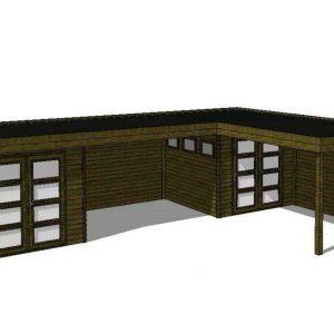 Tuinhuis/Blokhut Fonteyn Module 1000 x 700
