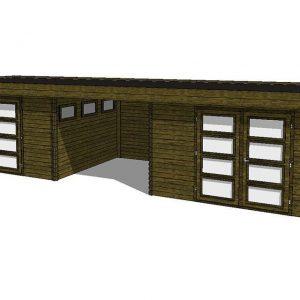 Tuinhuis/Blokhut Fonteyn Module 1050 x 300