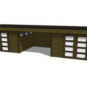 Tuinhuis/Blokhut Fonteyn Module 1100 x 300