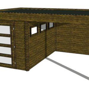 Tuinhuis/Blokhut Fonteyn Module 450 x 300