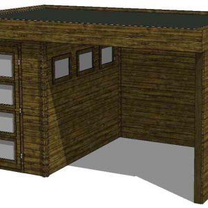 Tuinhuis/Blokhut Fonteyn Module 500 x 300