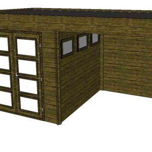 Tuinhuis/Blokhut Fonteyn Module 550 x 300