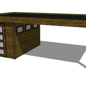 Tuinhuis/Blokhut Fonteyn Module 600 x 300