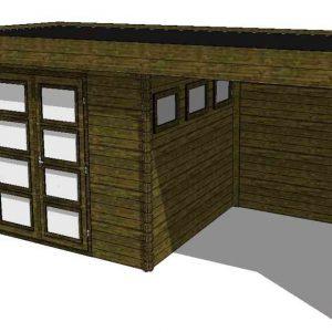 Tuinhuis/Blokhut Fonteyn Module 650 x 300