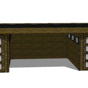 Tuinhuis/Blokhut Fonteyn Module 700 x 300