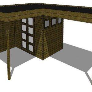 Tuinhuis/Blokhut Fonteyn Module 800 x 600