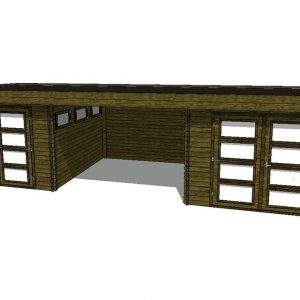 Tuinhuis/Blokhut Fonteyn Module 900 x 300