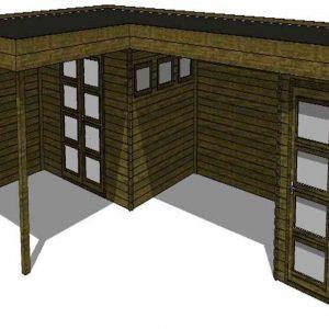 Tuinhuis/Blokhut Fonteyn Module 950 x 600