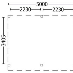 Nvt Tuinhuis / Blokhut Trendhout Buitenverblijf Mensa L 5000mm A