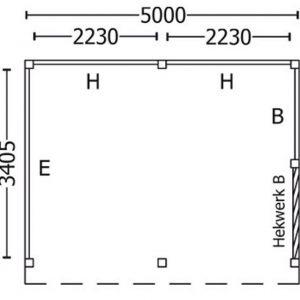 Nvt Tuinhuis / Blokhut Trendhout Buitenverblijf Mensa L 5000mm C