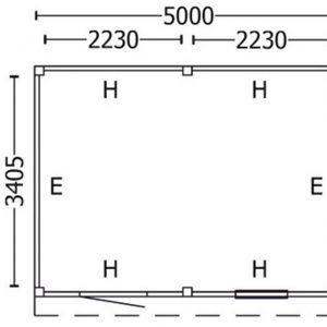 Nvt Tuinhuis / Blokhut Trendhout Buitenverblijf Mensa L 5000mm F