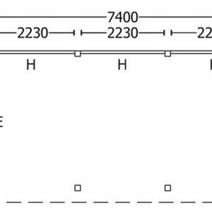 Nvt Tuinhuis / Blokhut Trendhout Buitenverblijf Mensa L 7400mm B