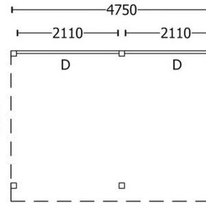Nvt Tuinhuis / Blokhut Trendhout Buitenverblijf Refter L 4750mm B