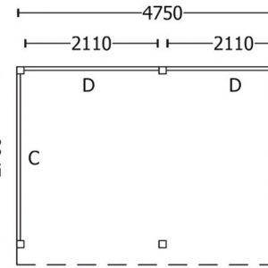 Nvt Tuinhuis / Blokhut Trendhout Buitenverblijf Refter L 4750mm C
