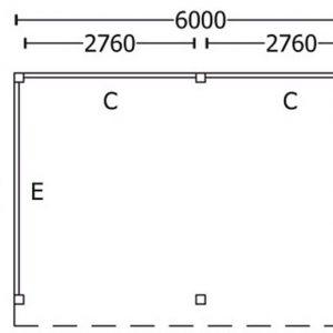 Nvt Tuinhuis / Blokhut Trendhout Buitenverblijf Refter XL 6000mm B