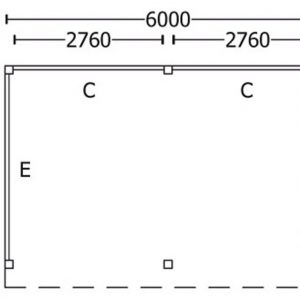Nvt Tuinhuis / Blokhut Trendhout Buitenverblijf Refter XL 6000mm C