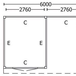 Nvt Tuinhuis / Blokhut Trendhout Buitenverblijf Refter XL 6000mm D