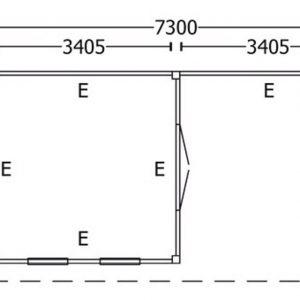 Nvt Tuinhuis / Blokhut Trendhout Buitenverblijf Refter XXL 7300mm D