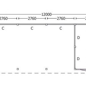 Nvt Tuinhuis / Blokhut Trendhout Buitenverblijf Regina XL 12000mm C