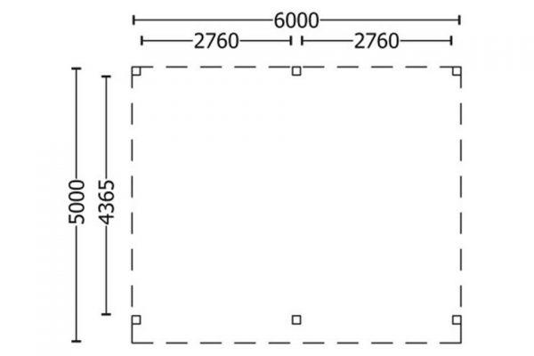 Nvt Tuinhuis / Blokhut Trendhout Buitenverblijf Regina XL 6000mm A