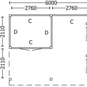 Nvt Tuinhuis / Blokhut Trendhout Buitenverblijf Regina XL 6000mm D