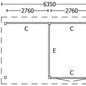 Nvt Tuinhuis / Blokhut Trendhout Buitenverblijf Zadeldak XL 6350mm D