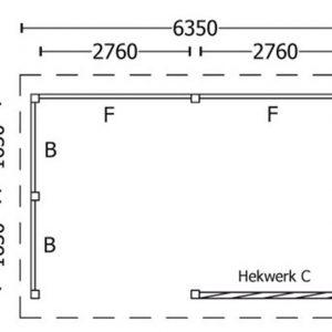 Nvt Tuinhuis / Blokhut Trendhout Kapschuur De Hoeve XL 6350mm C