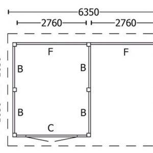 Nvt Tuinhuis / Blokhut Trendhout Kapschuur De Hoeve XL 6350mm D