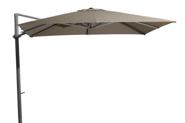 Zweefparasol 300 x 300 cm Siesta Antraciet-Taupe 4 Seasons Outdoor