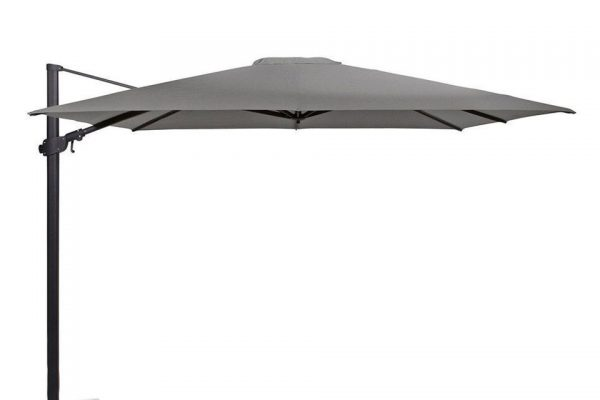 Zweefparasol 300 x 300 cm Siesta Premium Antraciet-Charcoal 4 Seasons Outdoor