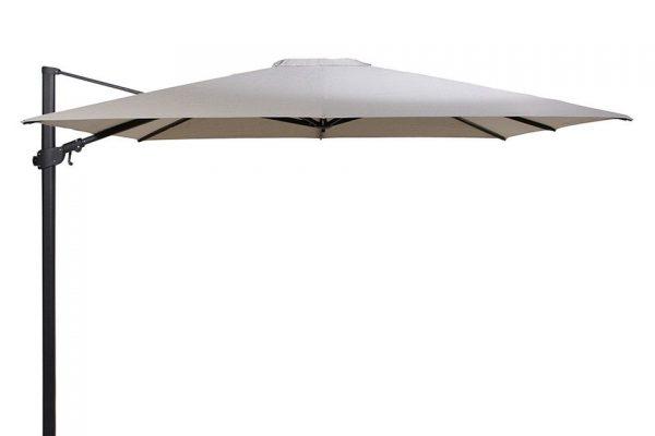 Zweefparasol 300 x 300 cm Siesta Premium Antraciet-Taupe 4 Seasons Outdoor
