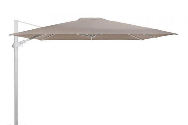 Zweefparasol 300 x 300 cm Siesta Premium Wit-Taupe 4 Seasons Outdoor