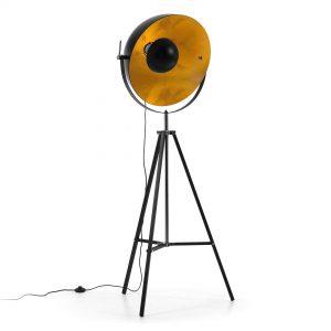 LaForma PARKER Floor Lamp - Vloerlamp - Retro Vintage Studio lamp Goud Brons