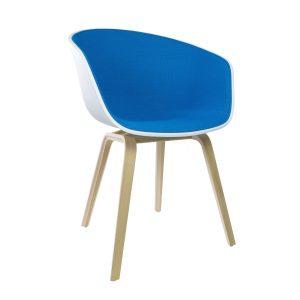 Hay AAC22 stoel gezeept eiken kuip wit Steelcut 865