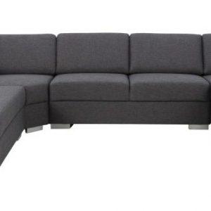 Hoekbank 'Hedda' lounge rechts, kleur antraciet
