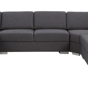 Hoekbank 'Hedda' lounge links, kleur antraciet