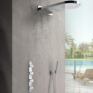 Hotbath Mate inbouw doucheset met waterval hoofddouche